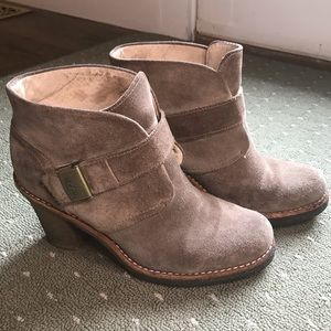 UGG Suede Ankle Boots in tan suede